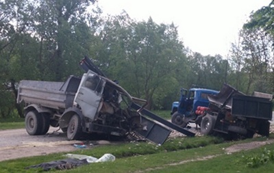 В Тернопольской области столкнулись два грузовика, есть жертвы