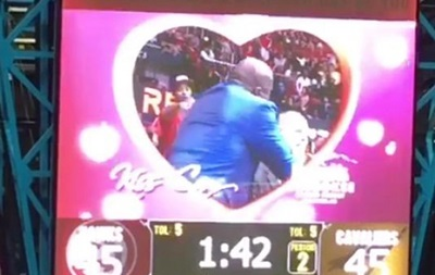 Легендарный баскетболист поцеловал комментатора во время матча Атланта - Кливленд