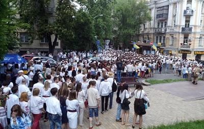 В Киеве собрались на мегамарш вышиванок