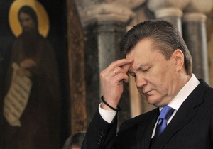 Литвин, Азаров и Янукович молятся в Киево-Печерской Лавре