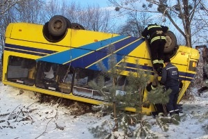 Во Львовской области перевернулся рейсовый автобус: пострадали 17 человек - ДТП