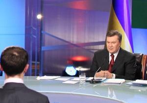 Янукович в прямом эфире ответил на 38 вопросов