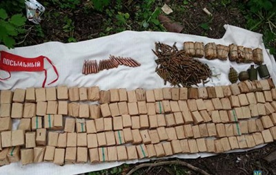 В Донецкой области обнаружили арсенал оружия