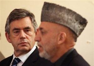Гордон Браун прибыл в Афганистан с необъявленным визитом