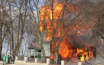 В Ивано-Франковской области горел храм