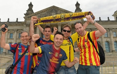 Барселона пожаловалась в UEFA на прием своих фанатов в Берлине
