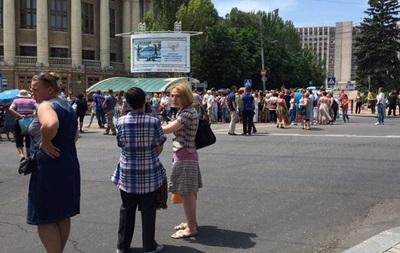 В Донецке вновь митинговали местные жители - СМИ