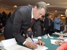 Ющенко на этих выборах изменил свои политические симпатии