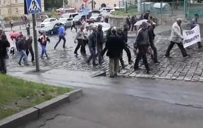 Во Львове протестовали против повышения тарифов и власти
