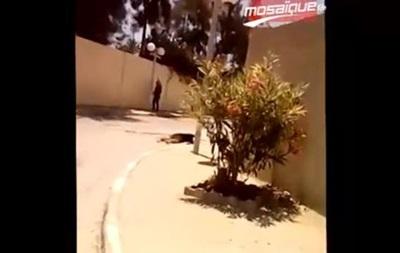 Появилось видео стрельбы в тунисском отеле