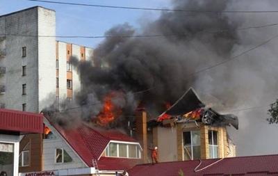 В Житомире горел развлекательный комплекс