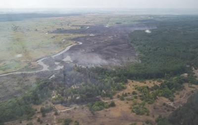 Под Чернобылем уже пятые сутки тушат пожар