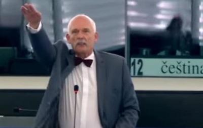 Польский депутат показал нацистский жест в Европарламенте