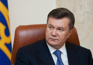 Янукович поздравил работников телевизионной сферы