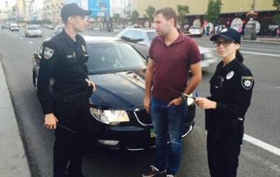 Полиция оштрафовала Парасюка за проезд на красный свет