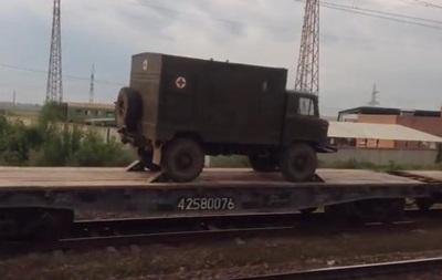 У границы с Украиной замечен эшелон военной техники