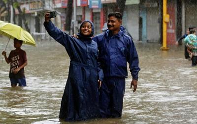 Жертвами наводнений в Индии стали десять человек
