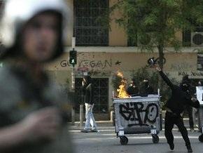 В Афинах произошли крупные столкновения анархистов с полицией