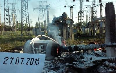 Появились фото последствий обстрела Углегорской ТЭС