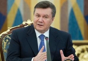 Янукович: Украину с востока на запад можно будет пересечь за 15 часов