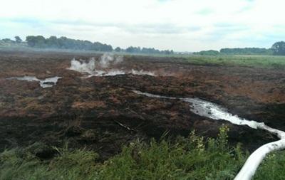 На Волыни горят почти сто гектаров торфяников