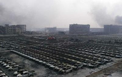 Пожар в Китае на месте взрывов до сих пор не ликвидирован