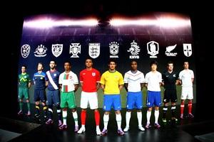 Nike представляет форму для команд участников чемпионата мира по футболу 2010