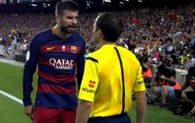 Защитник Барселоны дисквалифицирован на 4 игры за оскорбление судьи