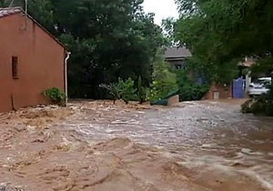 Cильные ливни вызвали наводнение на юге Франции