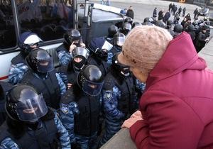 Милиция опровергла информацию о намерениях разогнать голодающих в Киеве чернобыльцев