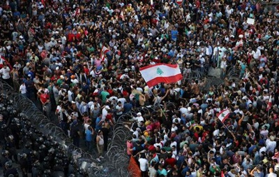В Ливане полиция разогнала акцию протеста водометами