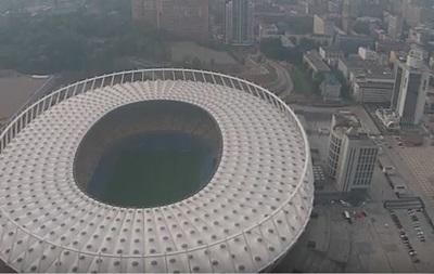 Появилось видео Киева в дыму с высоты птичьего полета