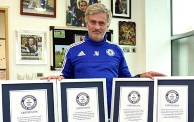 Моуринью с пятью достижениями включен в Книгу рекордов Гиннесса
