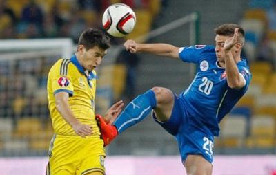 Сборная Украины проиграет матч со Словакией - букмекеры