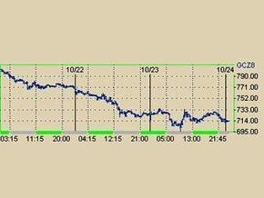 Цена на золото на NYMEX опустилась ниже 700 долларов за унцию