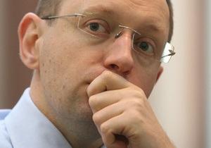 Яценюк: БЮТ и ПР представляют одну политическую эпоху