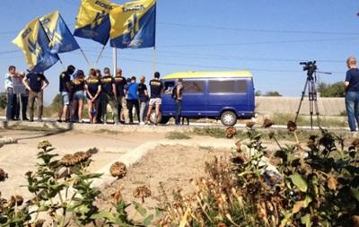 Азов  устроил акцию на въезде в Приднестровье