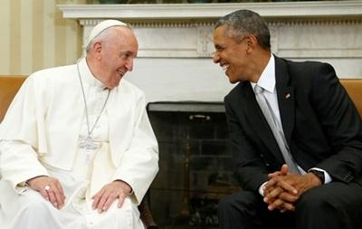 Папа Франциск побеседовал наедине с Обамой
