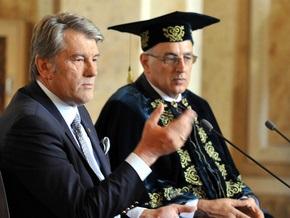 В канун 1 сентября Ющенко пообщался со студентами