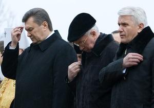 Янукович, Азаров и Литвин помолились по случаю завершения 2010 года