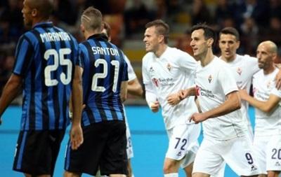 Никола Калинич трижды забил Интеру и вывел Фиорентину на первое место