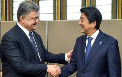 Порошенко провел встречу с премьер-министром Японии