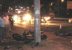 В Киеве разбился мотоциклист