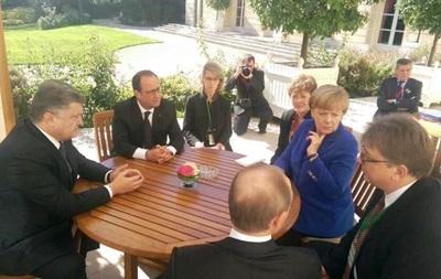 Переговоры нормандской четверки начались прямо на улице