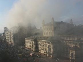 В центре Киева горит кафе