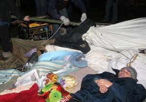В Донецке шесть чернобыльцев провели ночь под открытым небом