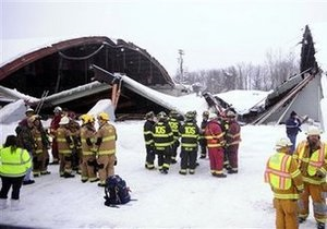 В США в ледовом дворце во время матча обрушилась крыша