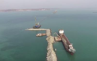 В сети появилось видео строительства второго моста через Керченский пролив