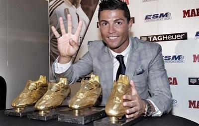 Роналду получил свою рекордную  Золотую бутсу