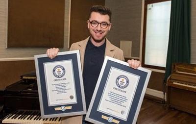 Сэм Смит дважды стал рекордсменом Книги рекордов Гиннеса